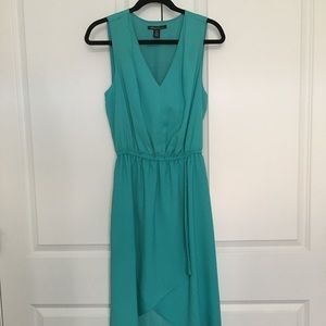 Kenneth Cole teal High-Low dress